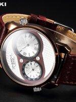 นาฬิกาแบรนด์เนม Eyki สีน้ำตาลเข้ม สไตล์ Classic livestyle