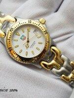 นาฬิกา TAG Professional 200 Metre สายทรงก้างปลายอดนิยม ฮิตสุดๆ หน้าปัดสีขาว สาย 2 k เงินทอง