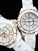 นาฬิกา Chanel J12 Gold White Diamonds Ceramic หน้าปัดตัวเลข แบบคู่รัก สวยประทับใจ