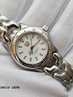 นาฬิกา TAG Professional 200 Metre สายทรงก้างปลายอดนิยม ฮิตสุดๆ หน้าปัดสีขาว สายเลสเงิน