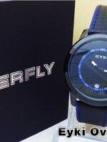 นาฬิกา Overfly eyki แท้ 100% Day หน้าปัดสีน้ำเงิน สายหนังด้ายน้ำเงิน รุ่นใหม่ล่าสุด