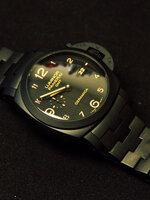 นาฬิกา Panerai Luminor Tuttonero GMT Pam 438 Ceramic PVD รุ่นสุดเทพ ยอดขายอันดับ 1