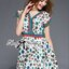 Lady Ribbon's Made Lady Jenny Super Chic Colorful Flower Printed Viscose Dress thumbnail 4