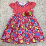 LKD-562 เสื้อผ้าเด็กขายส่ง (3 ชุดต่อแพค) ไซร์ 8y-10y-12y ชุดกระโปรงเด็ก สีแดง
