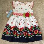 LKD-566 เสื้อผ้าเด็กขายส่ง (3 ชุดต่อแพค) ไซร์ 8y-10y-12y ชุดกระโปรงเด็ก สีขาว/กรมท่า