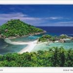 โปสการ์ด เกาะนางยวน จังหวัดสุราษฎร์ธานี /ทะเลแหวก/ชายหาด