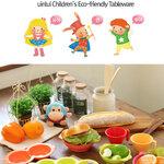 uinlui จานและอุปกรณ์ทานอาหารเด็ก