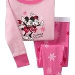 ชุดนอน Baby Gap ลายการ์ตูน Mickey & Minnie สีชมพู แขนยาว