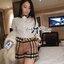 ( พร้อมส่งเสื้อผ้าเกาหลี) เซ็ตเสื้อเชิ้ตและกางเกงผ้าลายเบอร์เบอร์รี่ เซ็ตนี้คุ้มมากๆเพราะได้ถึงสองตัว ใส่เข้าเซ็ตกันก็ดูหรูหราเป็นผู้ดีสุดๆ ลายสวยมากเป็นลายซิกเนเจอร์ของเบอร์เบอร์รี่เลยนะคะ งานเป๊ะมาก ตัวเชิ้ตเป็นเชิ้ตขาวประดับลายตารางสีน้ำตาลที่คอเสื้อแล thumbnail 4
