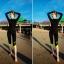 SM-V1-588 ชุดว่ายน้ำแขนยาว กางเกงขายาวสามส่วน สีดำขอบสีเขียวส้ะท้อนแสง เซ็ต 4 ชิ้น (บรา+บิกินี่+เสื้อแขนยาวซิปหน้า+กางเกงสามส่วน) thumbnail 6