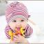 เซตหมวก+ผ้าซับน้ำลาย / ลาย Lovely Baby (มี 6 สี) thumbnail 7