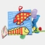 หนังสือผ้า Fishy Tail by Jollybaby thumbnail 2