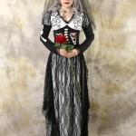 เช่าชุดแฟนซี &#x2665 ชุดแฟนซี ฮาโลวีน ชุดเจ้าสาวซอมบี้ ลูกไม้ดำ