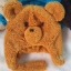 หมวกหน้าหมี ขนนุ่ม สี ฟ้า , ดำ thumbnail 2