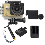 X1000 Gold +Extra Battery+Dual Charger+Protective Lens+TMC Selfie (Gold)