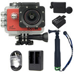 X1000 Red +Extra Battery+Dual Charger+Protective Lens+TMC Selfie (Green)