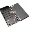 Power Bank แหล่งจ่ายไฟสำหรับ Arduino ESp8266 ชาร์จไฟผ่าน USB ถ่าน 18650 6 ก้อน สีดำ