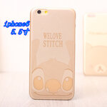 case iphone 6 / 6 plus สีทอง ลาย Stitch