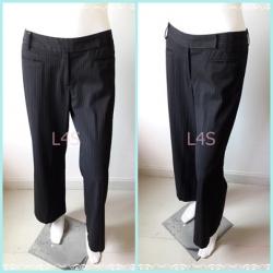 BNB1430-กางเกงผ้า มือสอง สีดำ แบรนด์เนม AIIZ เอว 30 นิ้ว