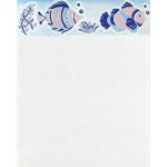 8*10 กระเบื้องโสสุโก้ ปลาการ์ตูน - ชมพู - ริม A