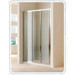 ฉากกั้นอาบน้ำบานเลื่อน 3 ตอน กระจกนิรภัย 4 มม. เฟรมขาว ขนาด 900 x 1850 มม. COTTO