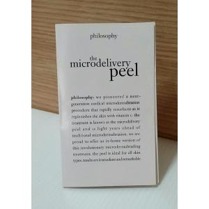 Philosophy the microdelivery in-home vitamin c peptide peel ขนาดทดลอง ชุดสูตรลัดขัดผิว ช่วยกระตุ้นการผลัดเซลผิวช้าๆ แต่สม่ำเสมอและอ่อนโยน เผยผิวใหม่แลดูอ่อนเยาว์