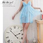 san510 ชุดนอนน่ารัก ชุดนอนซีทรู สีฟ้า แบบหวานๆ สวยอ่อนโยนในแบบคุณ