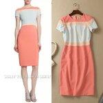 DR_7991, ชุดแซก Pastel Peach Pencil Dress, July, 2015, Dress, Pink, S-XXL, ~2000-2999