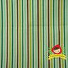 ผ้าฝ้ายญี่ปุ่น ลายทางโทนน้ำตาลเขียว ของ D's Selection ตัดเสื้อได้ หรือ ทำผ้ารองซับๆน สำหรับกระเป๋า กุ้นขอบ ฯลฯ เนื่อดีราคาประหยัดค่ะ