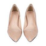 (พร้อมส่ง)Styletiba Beige Pink Heels รองเท้าหัวแหลมส้นเตี้ยสีเบจชมพูน่ารักมาก