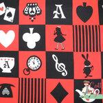 คอตตอนลินินญี่ปุ่น อลิส ( Lice in Wonderland) เหมาะสำหรับงานผ้าทุกชนิด ตัด กระโปรง ทำกระเป๋า ปลอกหมอน และอื่นๆ