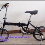 จักรยานพับได้ สีดำ อลูมิเนียม