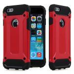 เคสกันกระแทก 3D ขอบนิิ่ม ไอโฟน 6/6s 4.7 นิ้ว-แดง