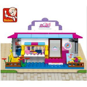 ร้านค้า (Shop) S-0528. ตัวต่อเลโก้จีน ร้านน้ำ Drink cafe