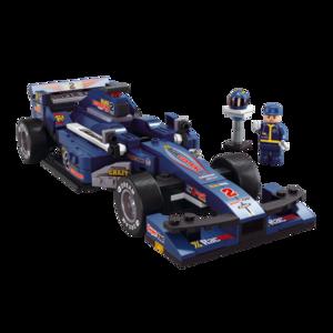 รถแข่ง (Formula cars) S-0353. ตัวต่อเลโก้จีน รถแข่งสีน้ำเงิน