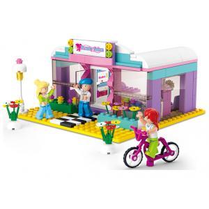 ร้านค้า (Shop) S-0526. ตัวต่อเลโก้จีน ร้านทำผม Beauty Salon