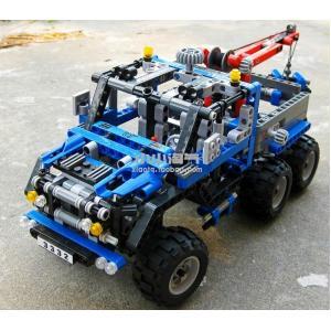 กลไก (Technic) D-3332. ตัวต่อเลโก้จีน รถลากติดเครนยก