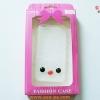 เคสยางใส Hello Kitty แต่งดวงตา-จมูกนูน Iphone 4/4s