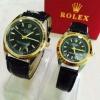 นาฬิกาRolexคู่รัก ก๊อปAAA สายหนังกันน้ำ
