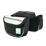 B029T กระเป๋าเบนโตะคู่เหลี่ยมมีซองใส่มือถือคาดเฟรมและสเต็ม(ผ้าทาโปลีน)