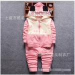 เสื้อ+กางเกง สีชมพู แพ็ค 4ชุด ไซส์ (เหมาะสำหรับ0-4ขวบ)