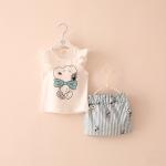 เสื้อ+กระโปรง สีฟ้า แพ็ค 5ชุด ไซส์ 100-110-120-130-140