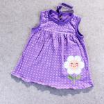 ชุดกระโปรงปัก 9 สีม่วง แพ็ค 12 ชุด ไซส์ เด็กเล็ก (0-2 ปี)