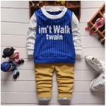 เสื้อ+กางเกง สีน้ำเงิน แพ็ค 4ชุด ไซส์ 90-100-110-120
