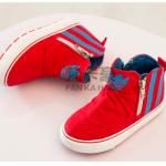 รองเท้าเด็กแฟชั่น สีแดง แพ็ค 6 คู่ ไซส์ 25-26-27-28-29-30