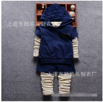 เสื้อตัวนอก+เสื้อตัวใน+กางเกง สีกรม แพ็ค 4ชุด ไซส์ (เหมาะสำหรับ0-4ขวบ)