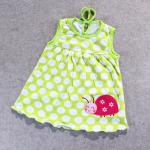 ชุดกระโปรงปัก 1 สีเขียว แพ็ค 12 ชุด ไซส์ เด็กเล็ก (0-2 ปี)