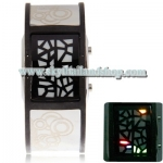 นาฬิกาแฟชั่น LED Multicolour Light LED Square Watch