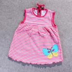 ชุดกระโปรงปัก 5 สีแดงผีเสื้อ แพ็ค 12 ชุด ไซส์ เด็กเล็ก (0-2 ปี)