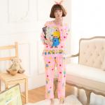เสื้อ+กางเกง ผู้ใหญ่ แขนยาว สีชมพู แพ็ค 3 ชุด ฟรีไซส์